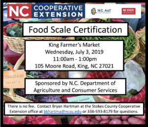 Cover photo for Food Scales Certification