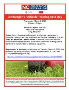 Cover photo for Landscaper's Pesticide Training Field Day
