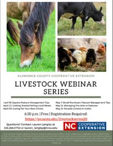 Cover photo for Online Livestock Webinar Series!