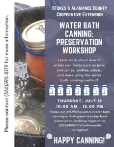 Cover photo for Water Bath Canning Workshop