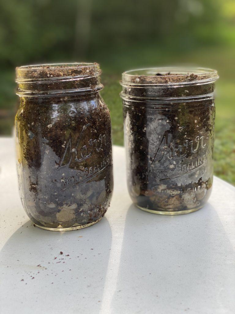 herb garden jars