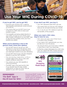 Cover photo for Use Your WIC During COVID-19
