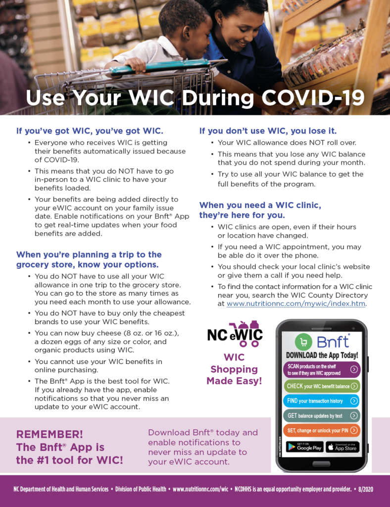 Using WIC during COVID-19