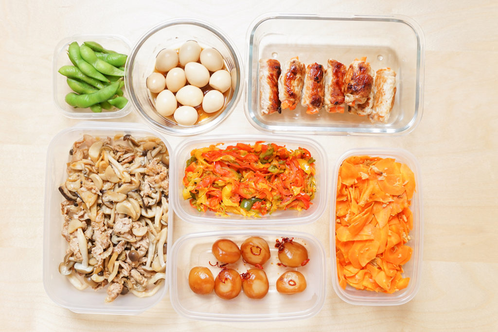 Meal prepping foods