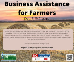 Cover photo for Business Assistance for Farmers Workshop