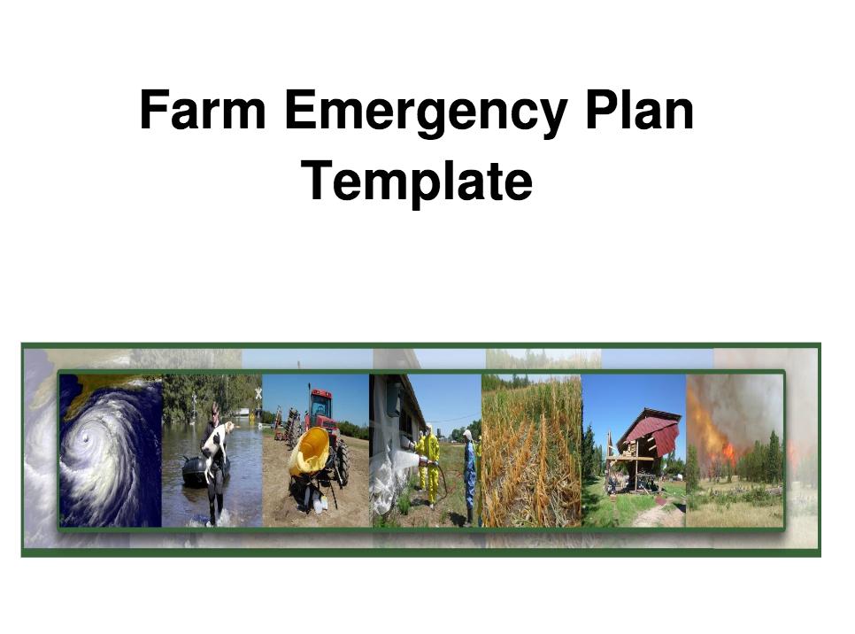 Farm Emergency Plan