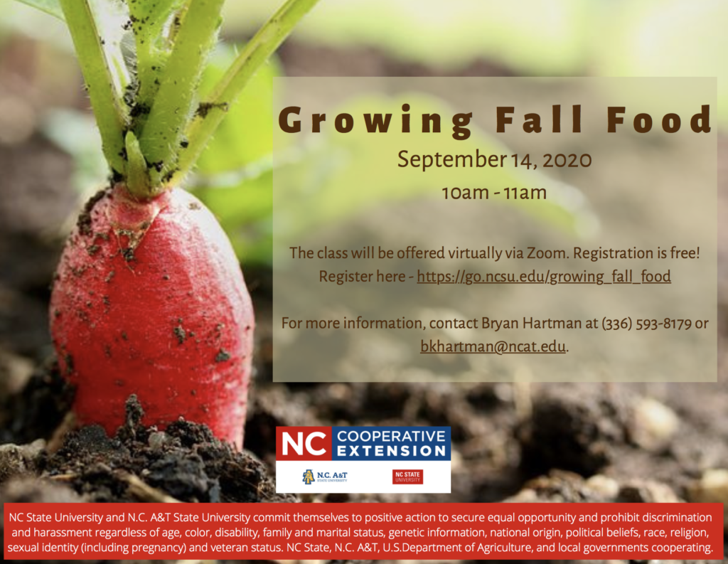Growing Fall Food flyer