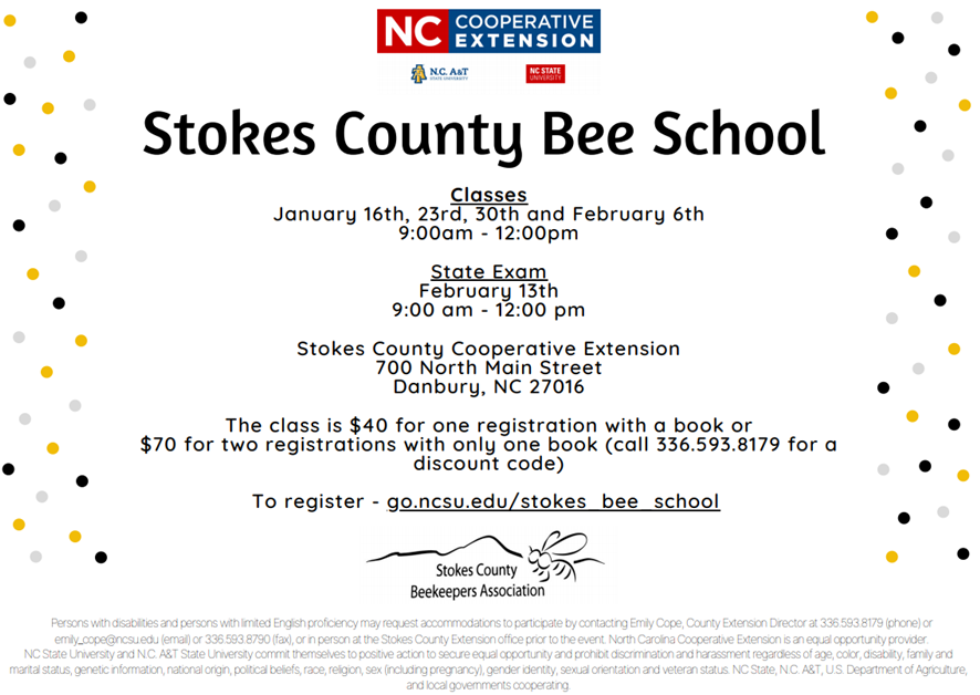 Bee School flyer