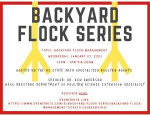 Cover photo for Backyard Poultry Flock Webinar