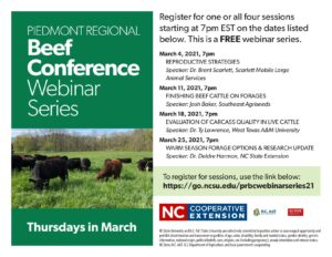 Cover photo for 2021 Piedmont Regional Beef Conference Series