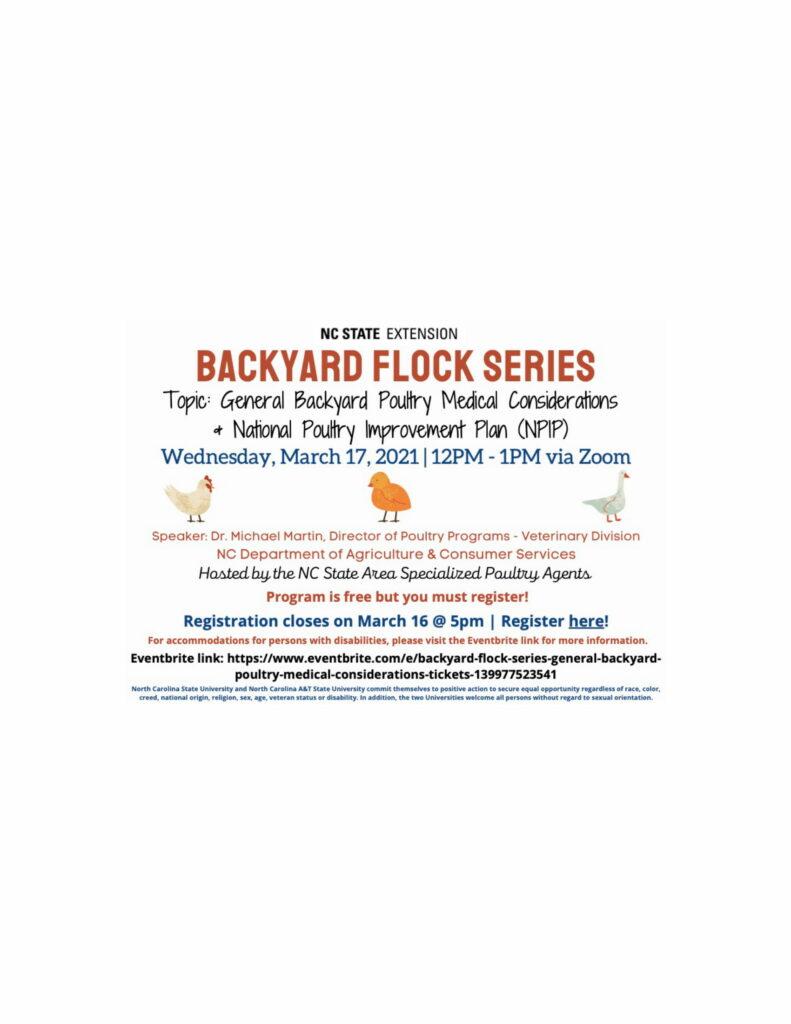 Backyard Flock Series flyer image