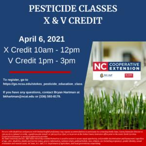 Cover photo for Pesticide X & v Training