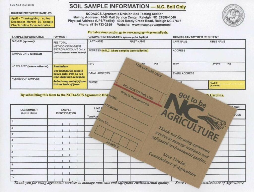 Soil sample kit