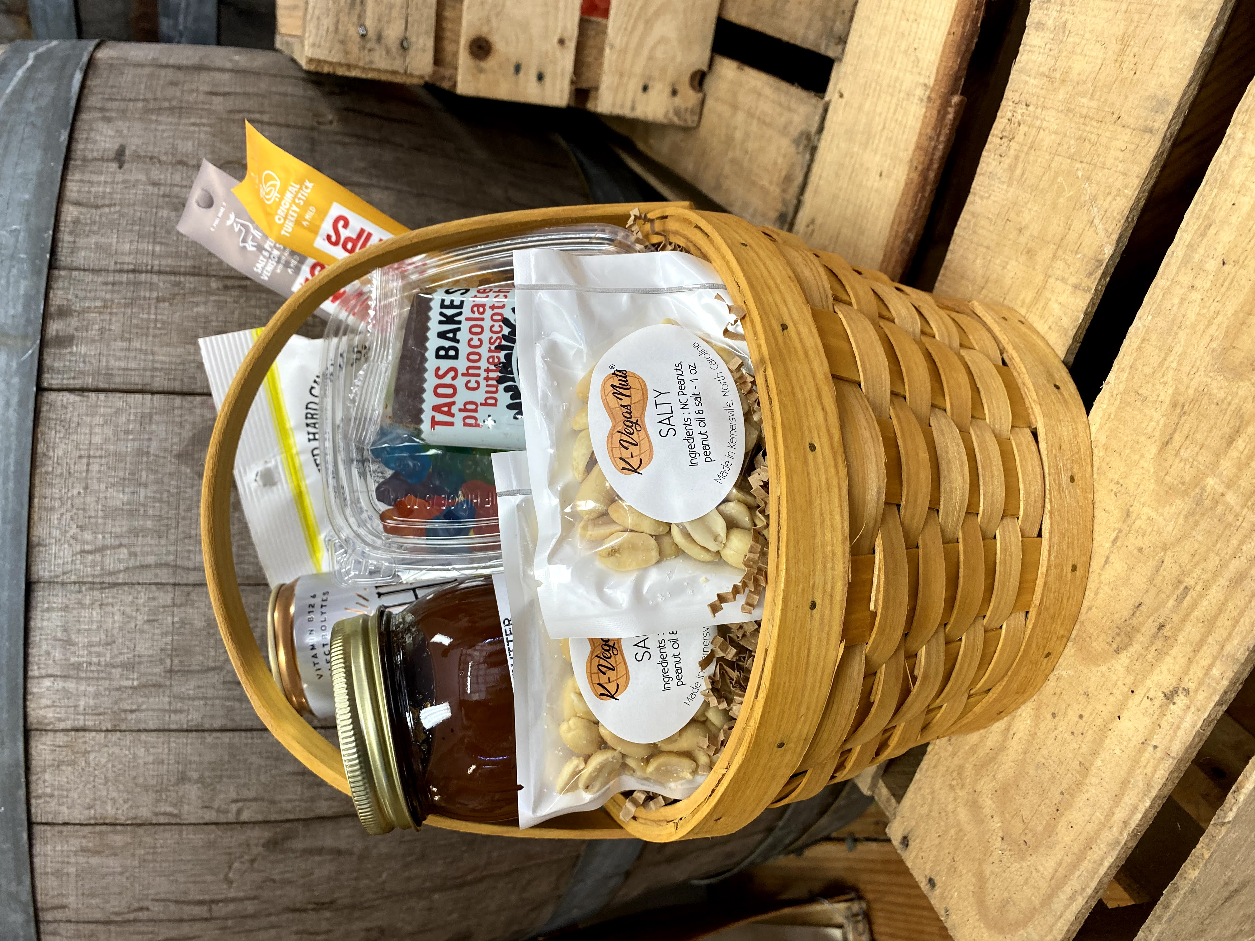 Gift basket with products
