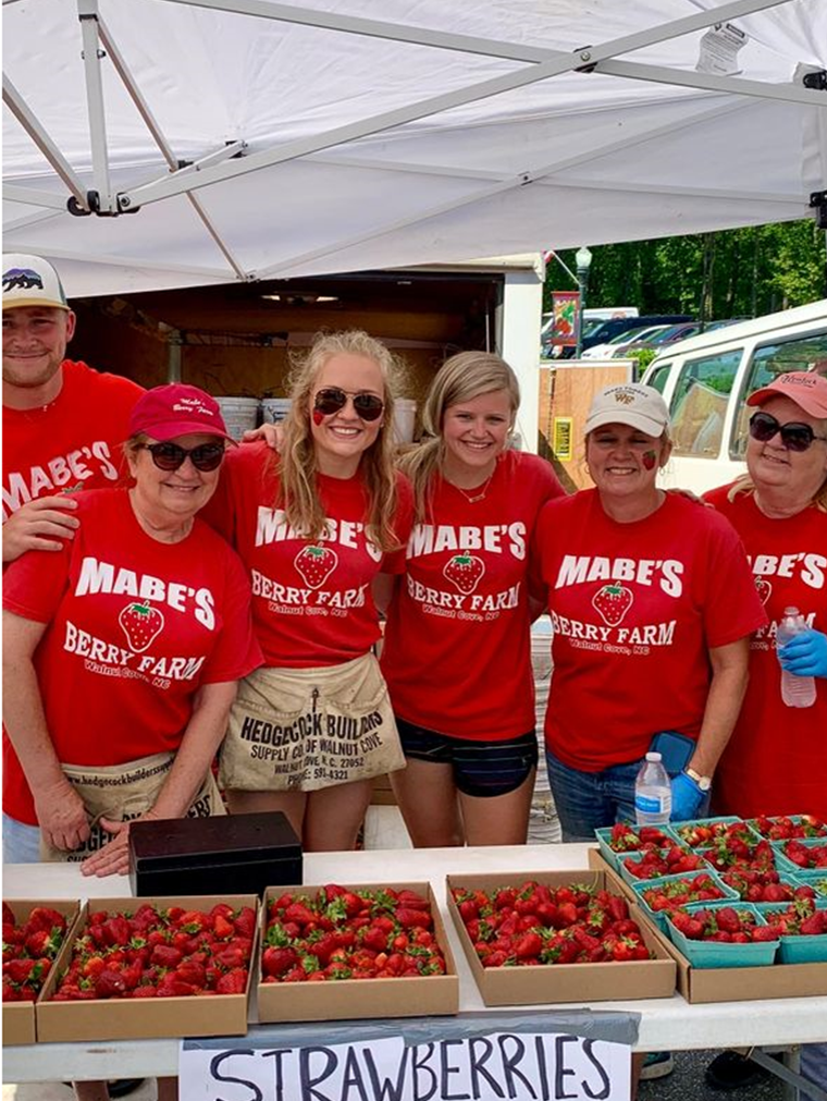 Mabe's Berry Farm workers
