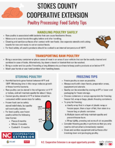 Cover photo for Poultry Processing Food Safety Tips