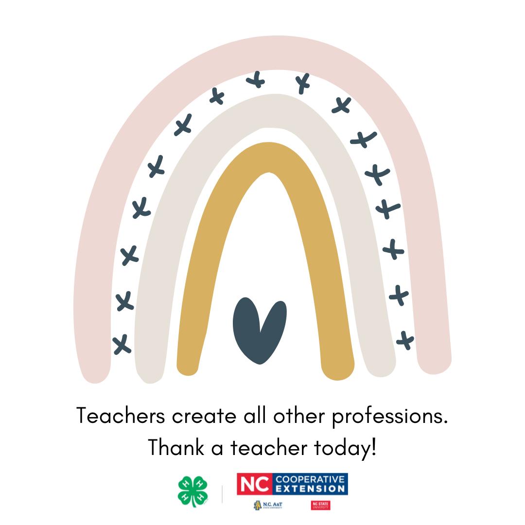 Thank a teacher graphic