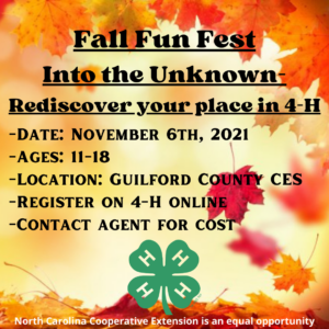 Cover photo for North Central District 4-H Fall Fest